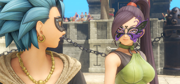 Masked characters in DQ11 - Modded gameplay