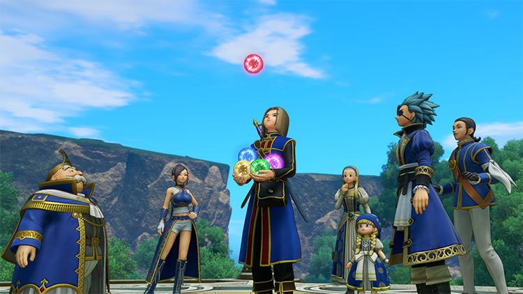 Royal Blue Crew Dragon Quest 11 mod screenshot
