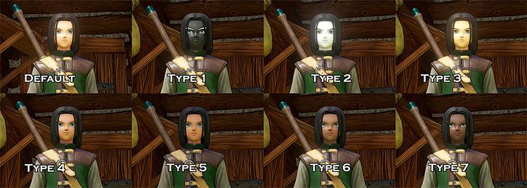 Hero Skin Tone Selector Dragon Quest 11 mod