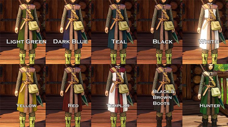 Tunic Recolors Dragon Quest 11 mod screenshot