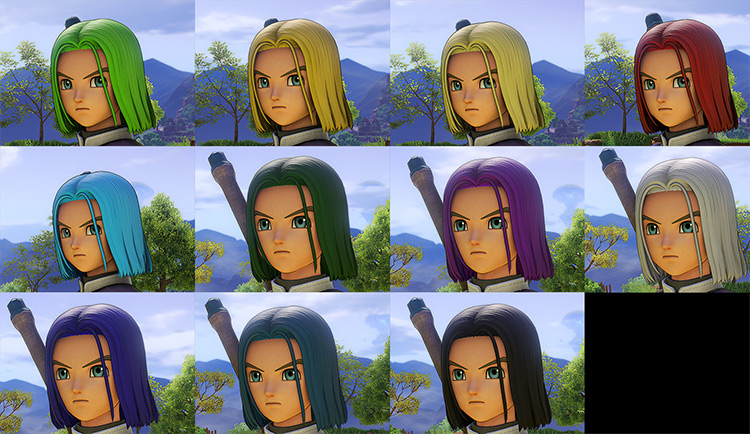 Hero Hair Recolors mod for Dragon Quest 11