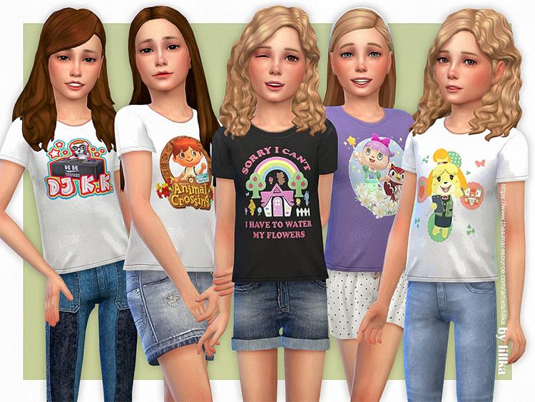 Animal Crossing T-Shirt CC Pack