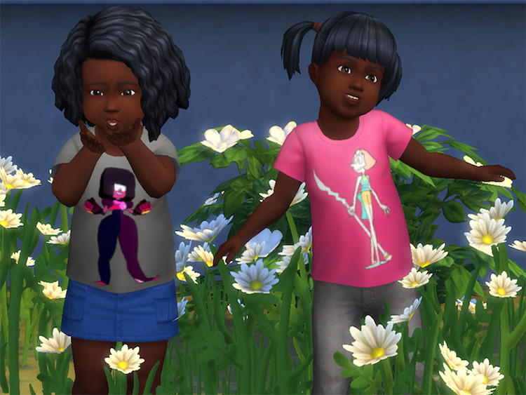 Steven Universe Toddler Tees CC for TS4