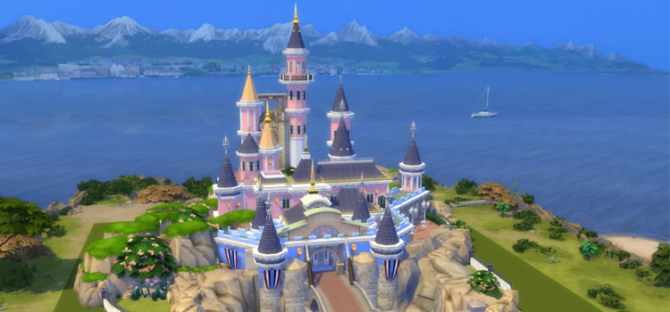 Disney Castle final build in Sims 4