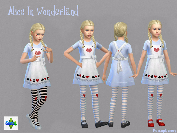 Alice In Wonderland Costume for The Sims 4
