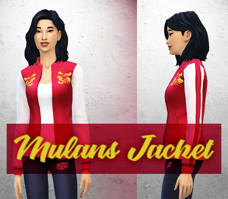 Mulan's Jacket CC in The Sims 4