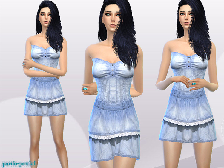 Short Dress CC - Sims 4 Preview