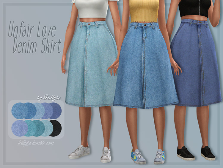 Unfair Love Denim Skirt CC