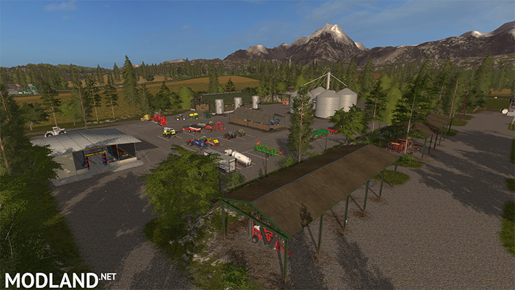 Pine Cove Production Map in FS17