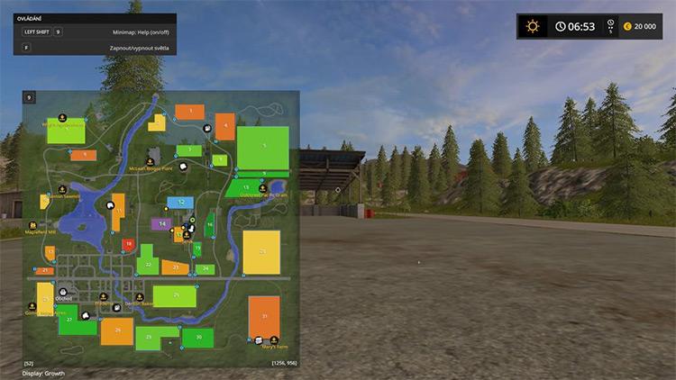 Better Minimap Farming Simulator 17 mod
