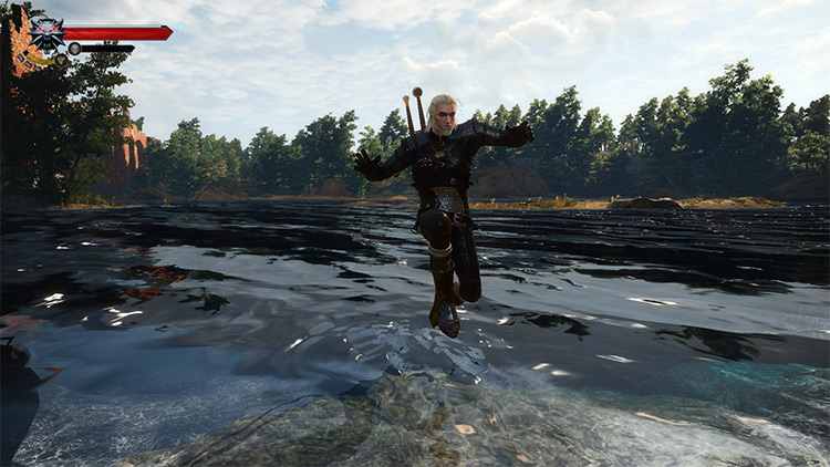 Jump in Shallow Water Witcher 3 mod