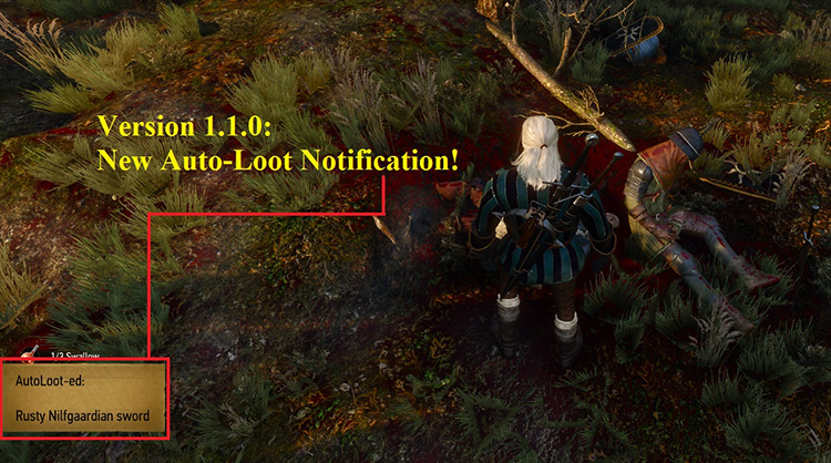 AutoLoot mod for Witcher 3
