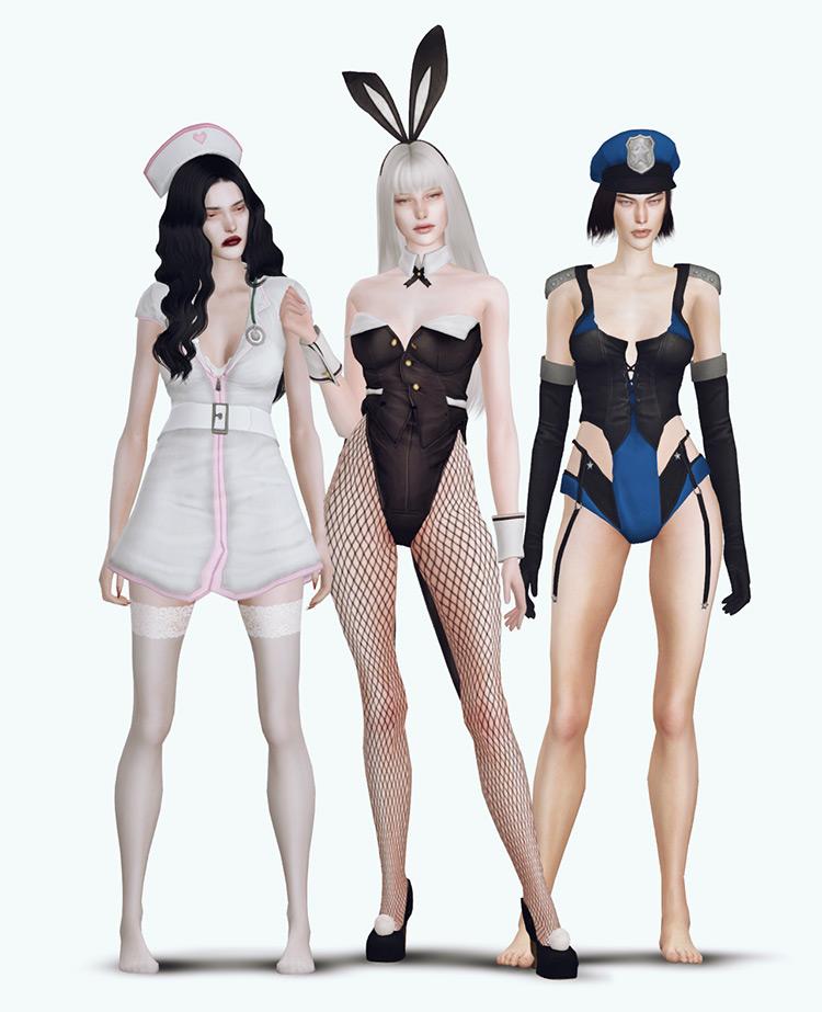 Playboy Bunny Halloween Set Sims 4