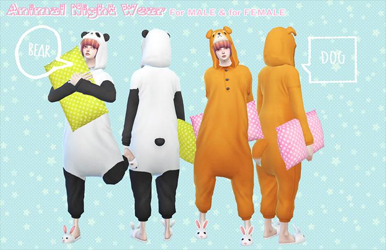 Animal Night Wear Sims 4 CC