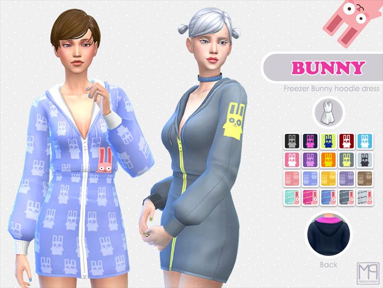 Bunny Hoodie Dress Sims 4 CC