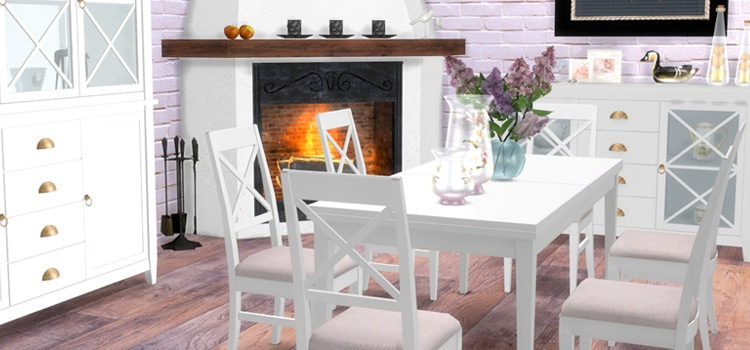 Sims 4 Dining Room CC: Best Furniture Sets & Items For Your Home