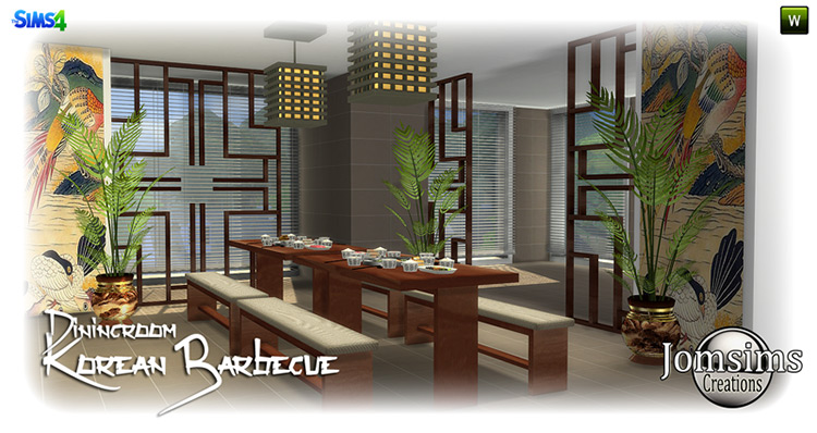 Korean Barbecue Dining Room for TS4