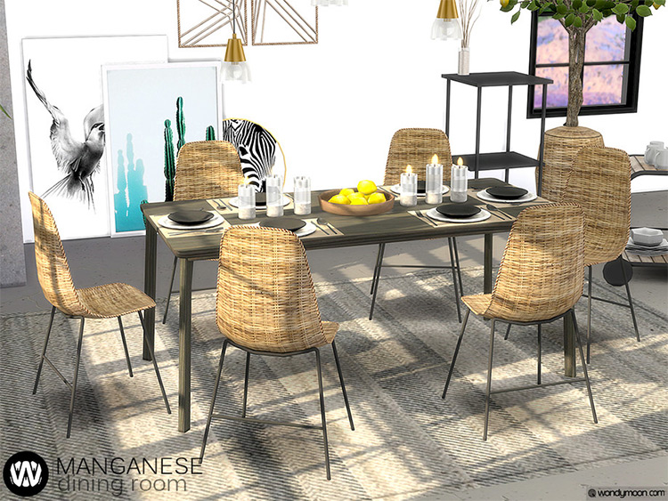 Manganese Dining Room for Sims 4