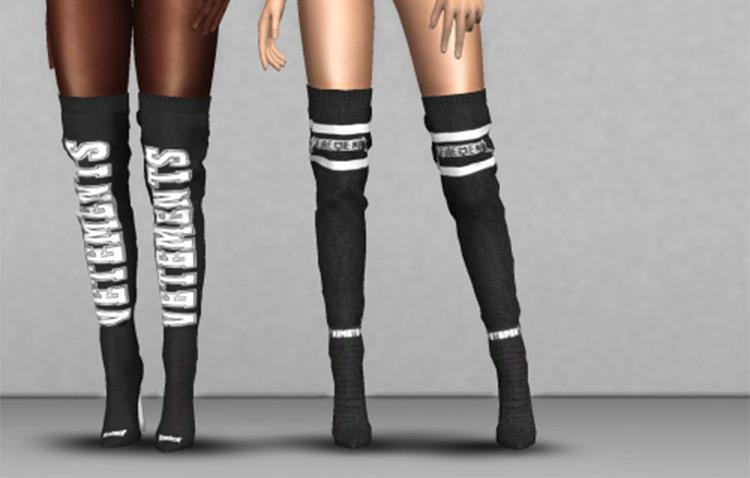 Vetements x Reebok Sock Boots - Sims 4 CC
