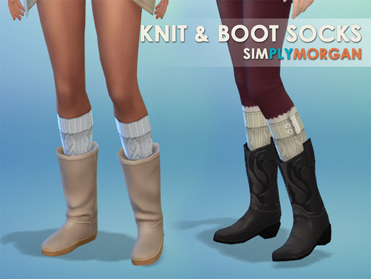 Boot and Knit Sock Set CC