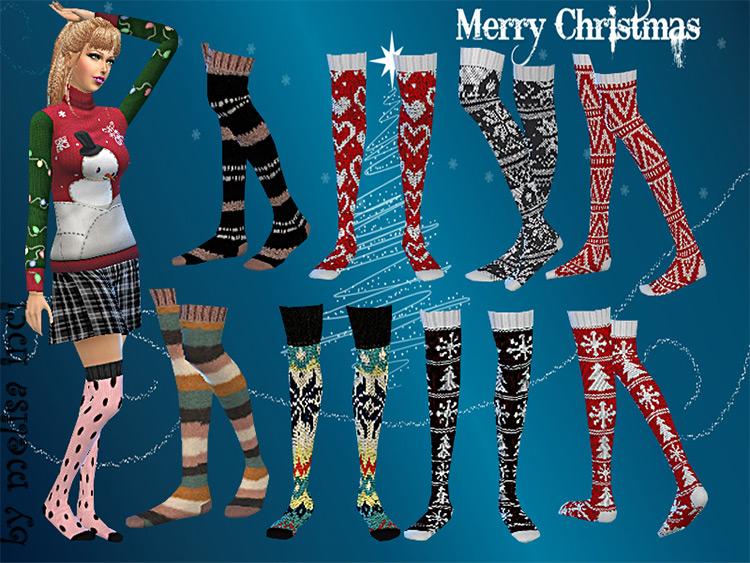 Christmas Pattern Socks CC Set