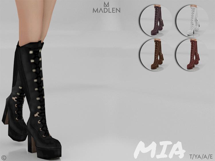 Madlen Mia Boots CC - Sims 4