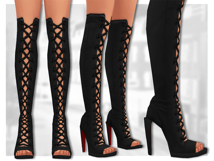 Lilith Knee High Boots for The Sims 4