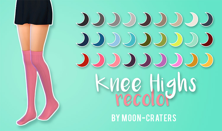 Knee Highs Recolored CC - TS4