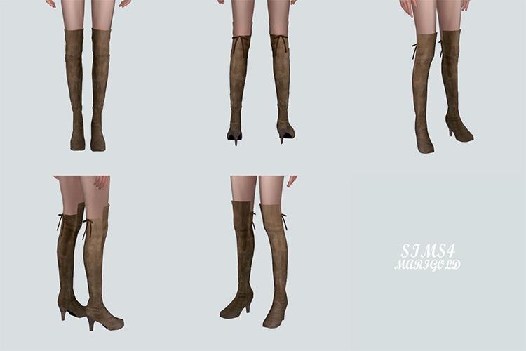 Thigh High Boots - Girls Sims 4 CC