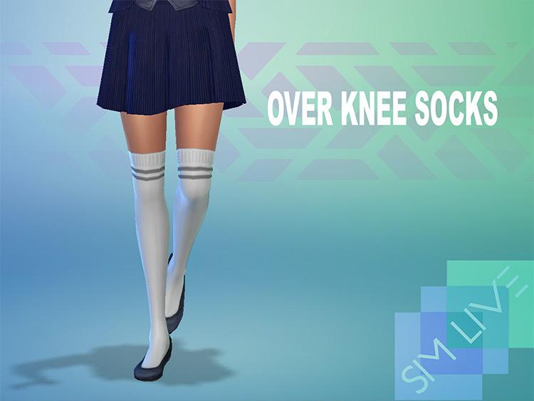 Over Knee Socks CC for Sims 4