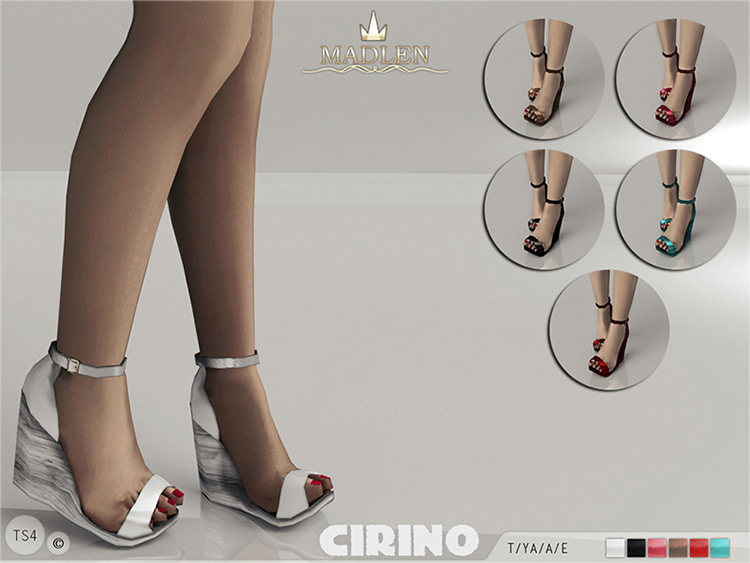 Madlen Cirino Wedges - Girls Sims 4 CC