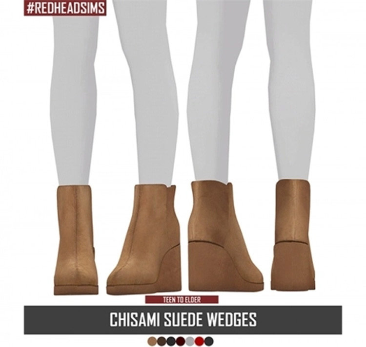 Chisami Suede Wedges CC