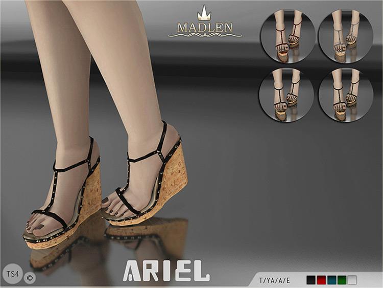 Madlen Ariel Wedge Heels - TS4 CC
