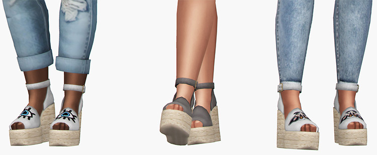 Lily Wedge Shoes for The Sims 4