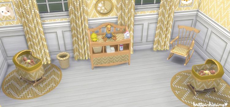 Sims4 Nursery set brittpinkiesims preview