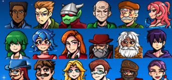 All Villagers Portraits Mod - Stardew Valley Preview