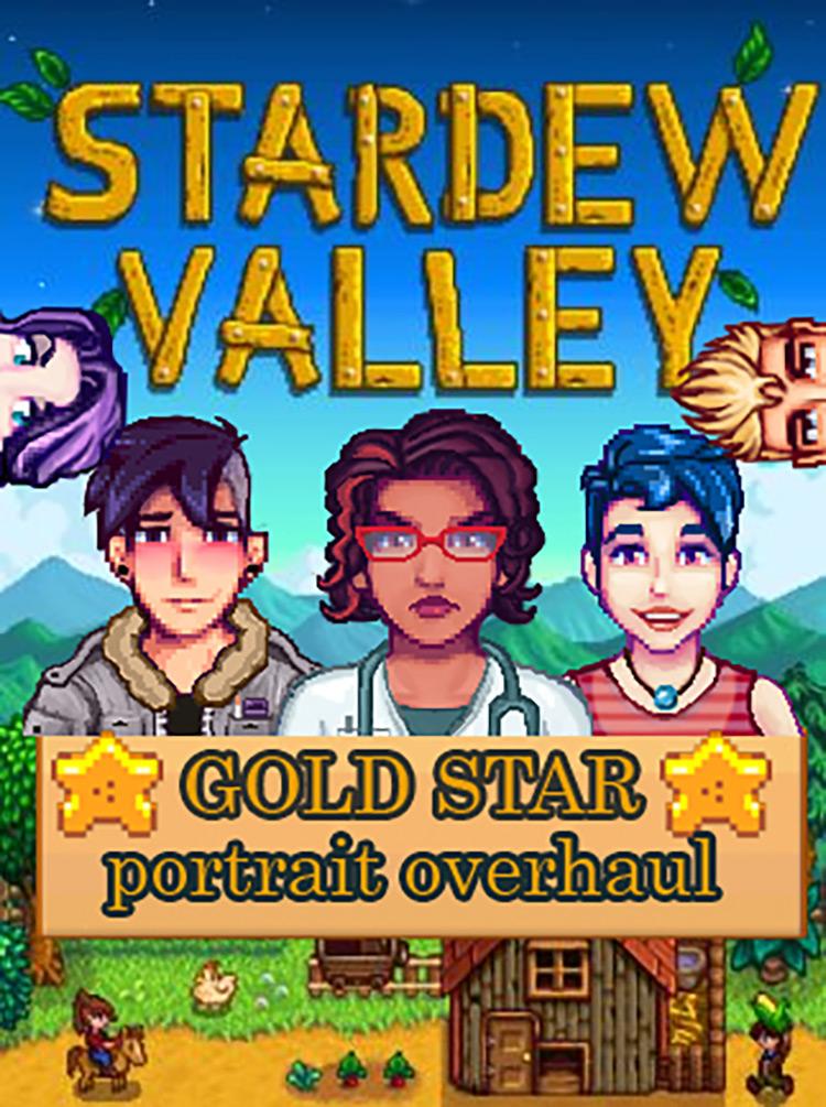 Gold Star Portrait Overhaul Mod
