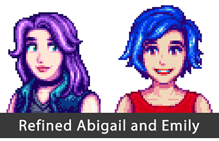 Refined Abigail and Emily Stardew Valley Mod