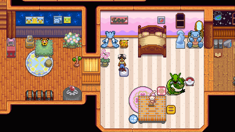 Pokemon furnitures Stardew Valley Mod