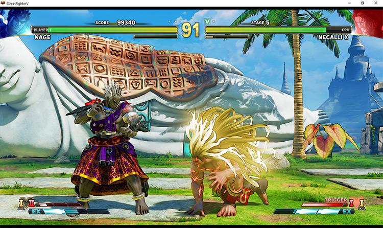 Boss Rush Street Fighter V Mod gameplay screenshot