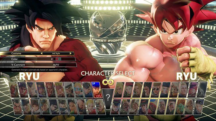 SSJ4 Ryu Swap Mod character screenshot