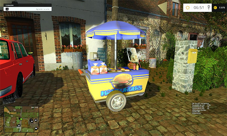Burger Cart Mod for FS15