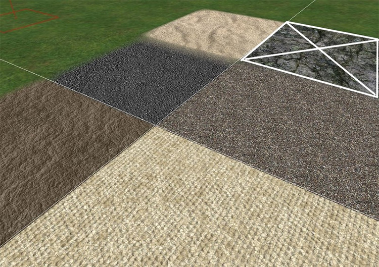 Sand, Gravel, Asphalt, Dirt Textures for FS15