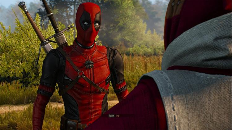 Deadpool's Suit - Witcher 3 Armor Mod