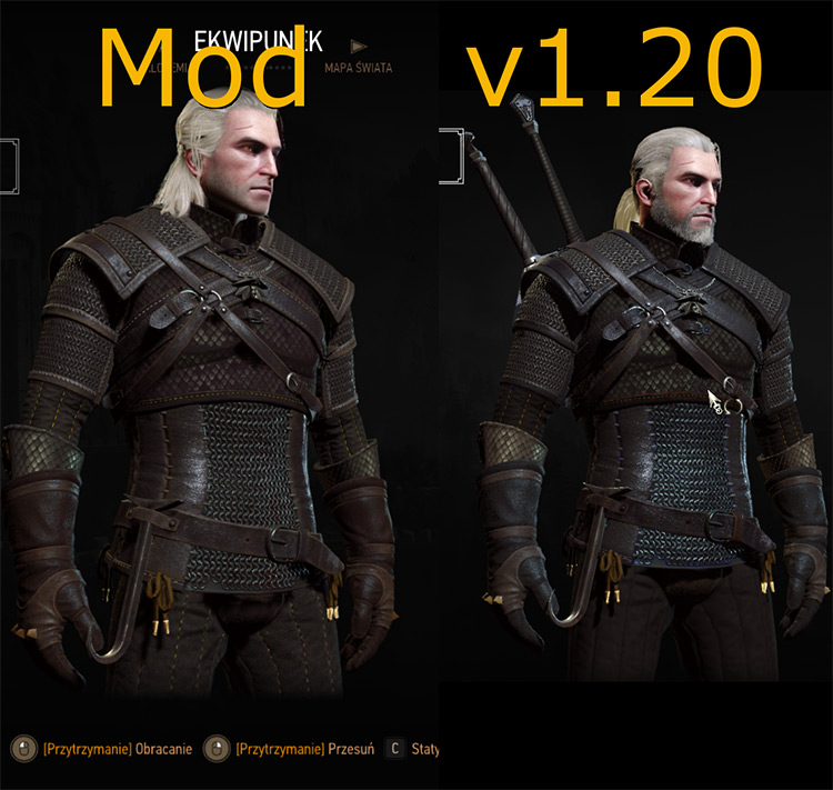 Old Quality Witcher Armours Mod