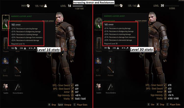 Leveling Kaer Morhen Armor Mod