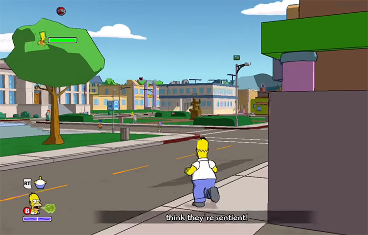 The Simpsons Game Screenshot