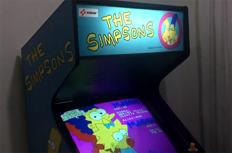 Simpsons Arcade Cabinet Game