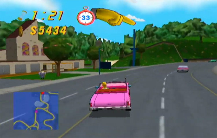 The Simpsons: Road Rage Screenshot