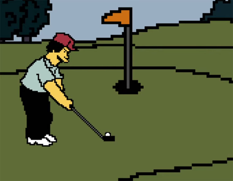 Putting Challenge Game - Simpsons Screenshot